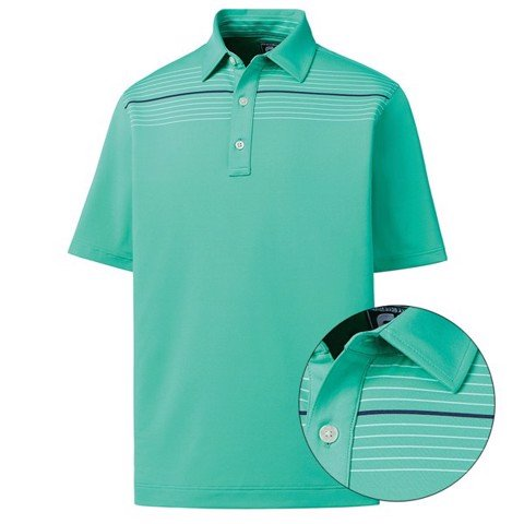 Áo golf Stretch Lisle Engineered Chest Pinstripe - Self Collar 93559 | Footjoy