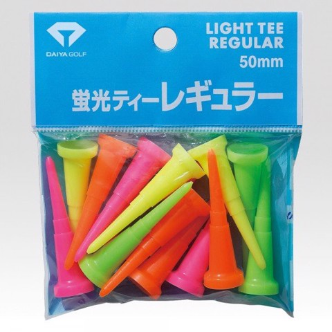 Tee golf nhựa 50MM Light Regular TE 456 màu dạ quang Japan | Daiya