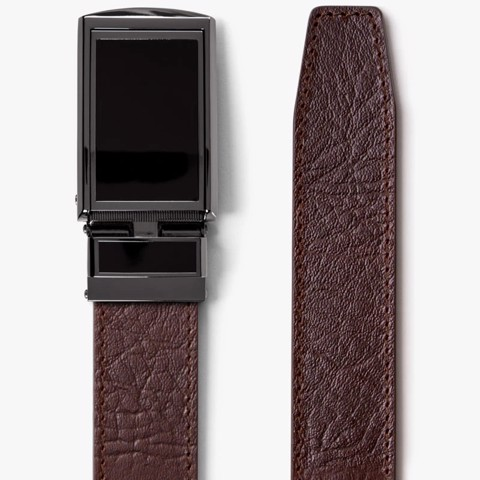 Thắt lưng da Top Grain Brown with Brass Buckle | SLIDEBELTS