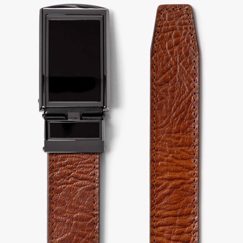 Thắt lưng da Top Grain Walnut with Black Buckle | SLIDEBELTS