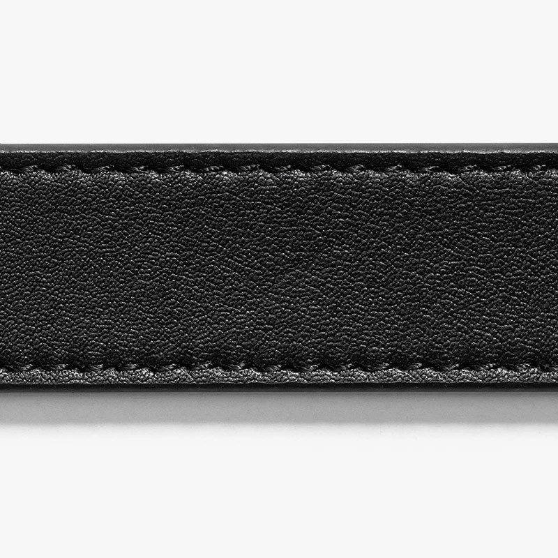 Thắt lưng nữ Skinny Black Belt with Silver Buckle 2.2cm | SLIDEBELTS