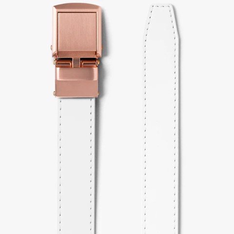 Thắt lưng nữ Skinny White with Rose Gold | SLIDEBELTS