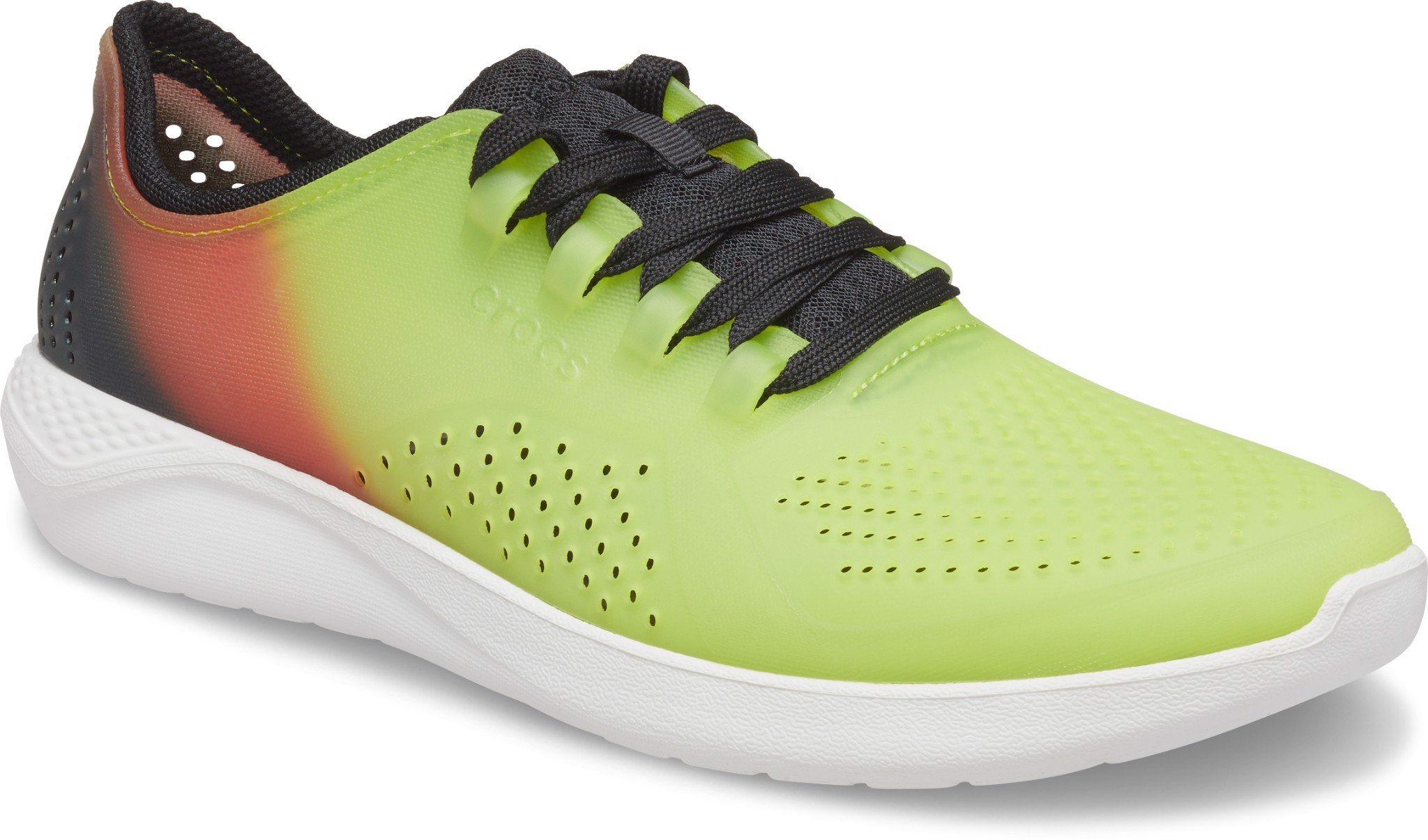 Crocs - Giày thời trang nam LiteRide Pacer Color Lime Punch Almost White Lifestyle SS21-2065