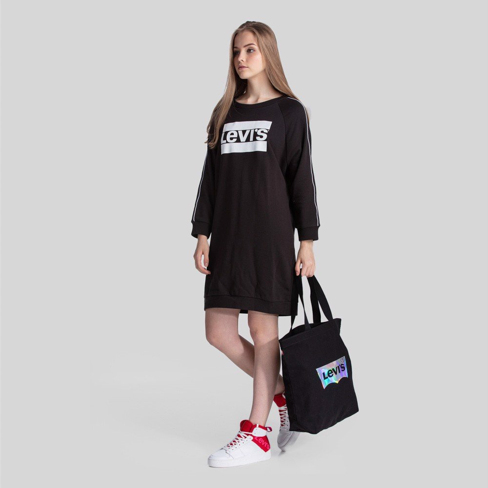 Levi's - Túi nữ Iridescent Tote Regular Black Women Levis IR-0069