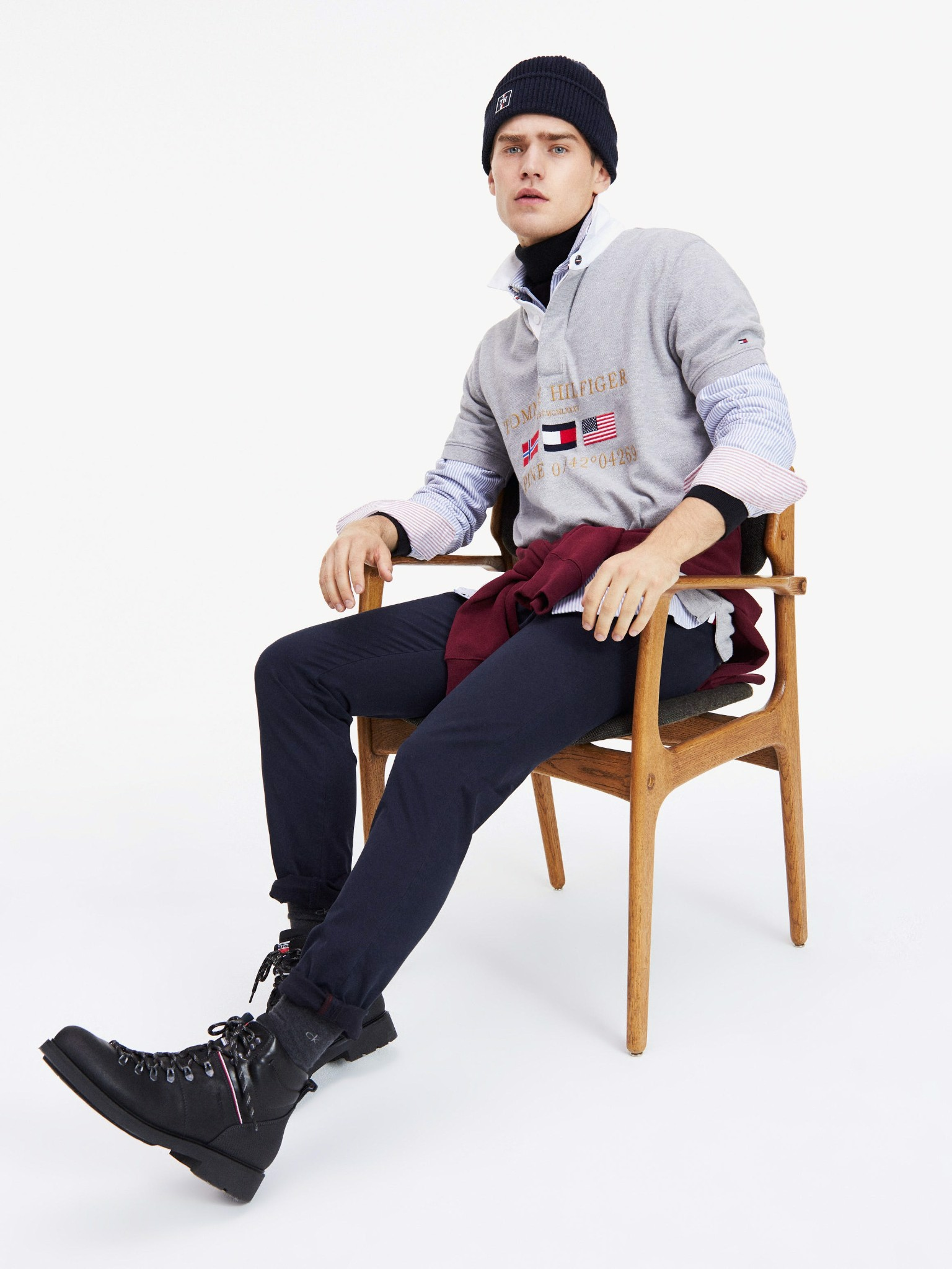 Tommy Hilfiger - Áo polo tay ngắn nam Relaxed Rugby Polo ME21-MS20