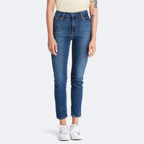 Levi's - Quần jeans dài nữ nữ 721 Hi Rise Skinny Ankle Cool Honor Roll Women Levis 72-0102