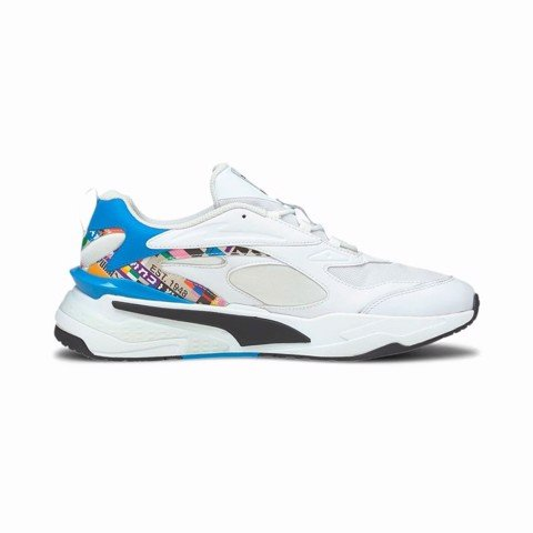 Puma - Giày thể thao thời trang nam nữ Rs-Fast Game White-Empire Yell Lifestyle SS21-3751