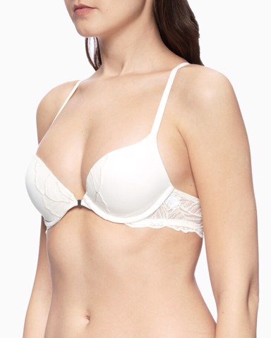 Calvin Klein - Áo ngực Nữ CK Push Up Plunge Perfectly Fit Iris Lace Bra Womens 65AD-PU