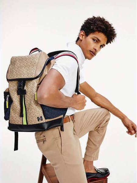 Tommy Hilfiger - Ba lô nam Coated Canvas Flap AM21-5920