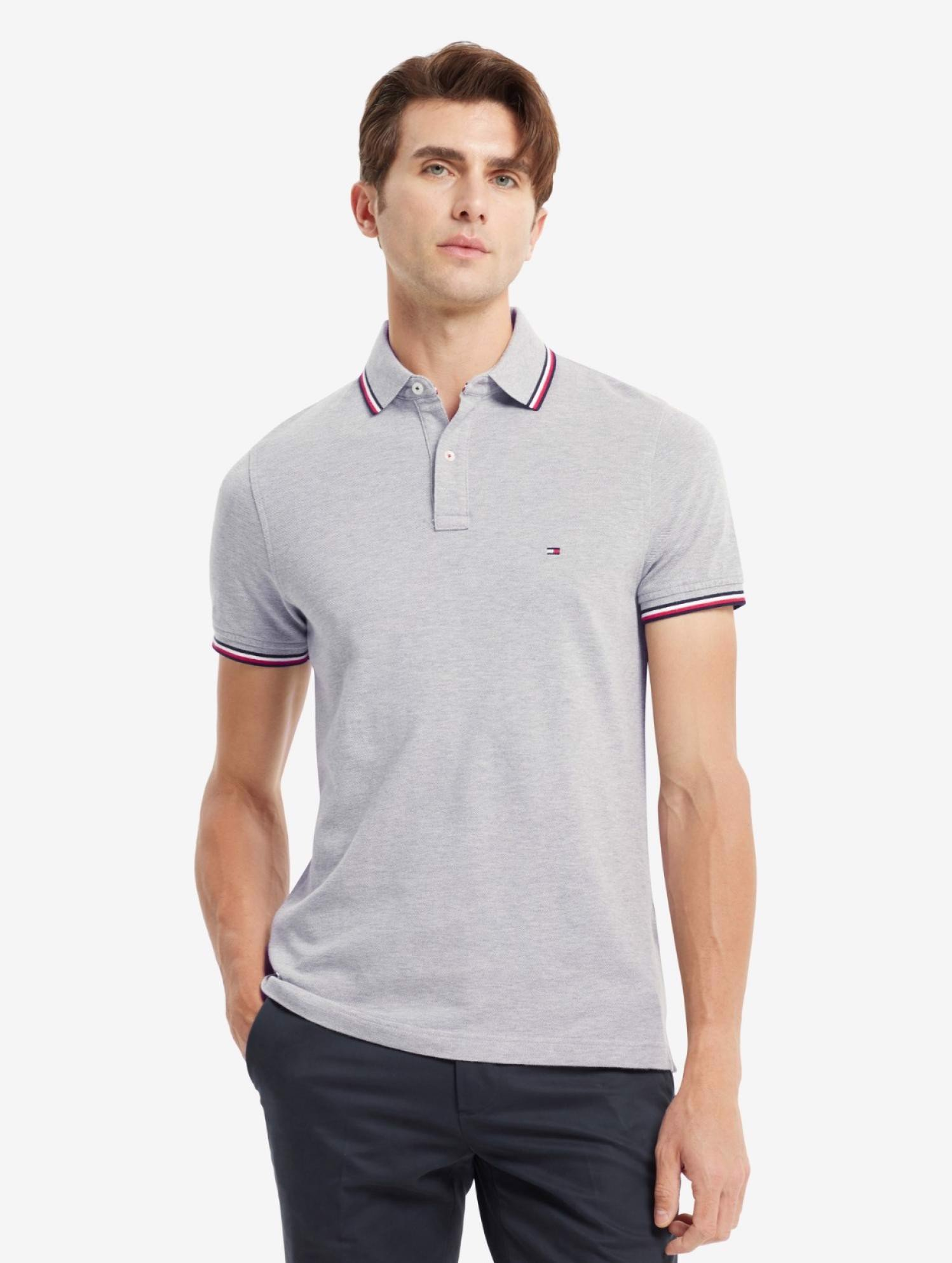 Tommy Hilfiger - Áo polo tay ngắn nam Core Tommy Tipped Slim Polo AP21-9925