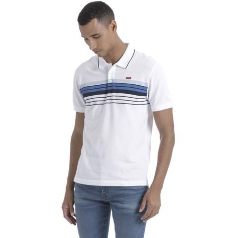 Levi's - Áo thun polo nam Levis Housemark Polo Chest Stripe Dress Blues / Men Levis LE-0115