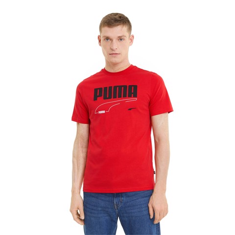 Puma - Áo thun nam Rebel Tee High Risk Red Lifestyle SS21-5857