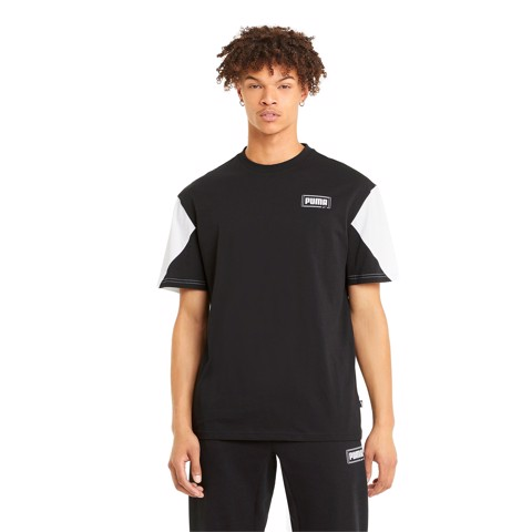 Puma - Áo thun nam Rebel Advanced Tee Black Lifestyle SS21-5857
