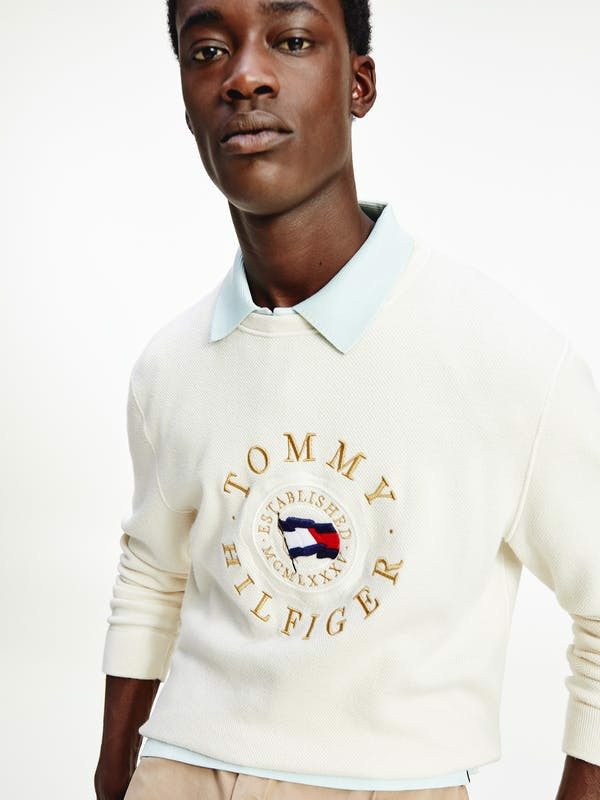 Tommy Hilfiger - Áo thun tay dài nam Structured Graphic Sweater HP21-M522