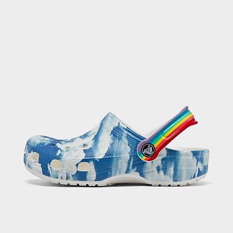 Crocs - Giày sandal trẻ em Classic Clog Out Of This World 2 White Lifestyle SS21-2068