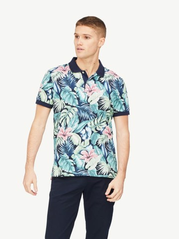 Tommy Hilfiger - Áo polo tay ngắn nam All Over Flower Print MW21-2920