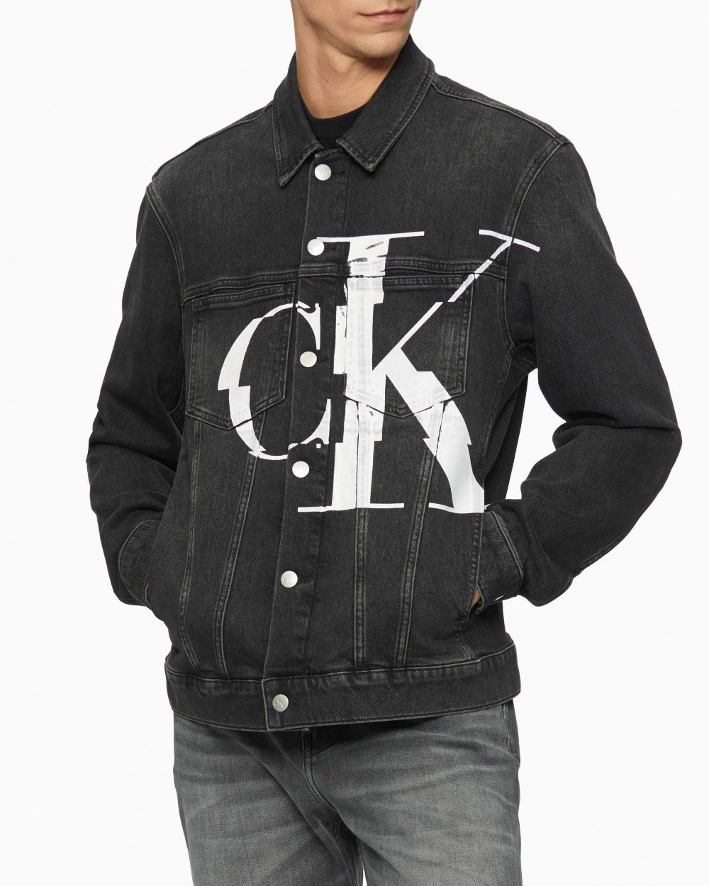 Calvin Klein - Áo khoác Nam CK 2 Pocket Denim Jacke 1BY-6192