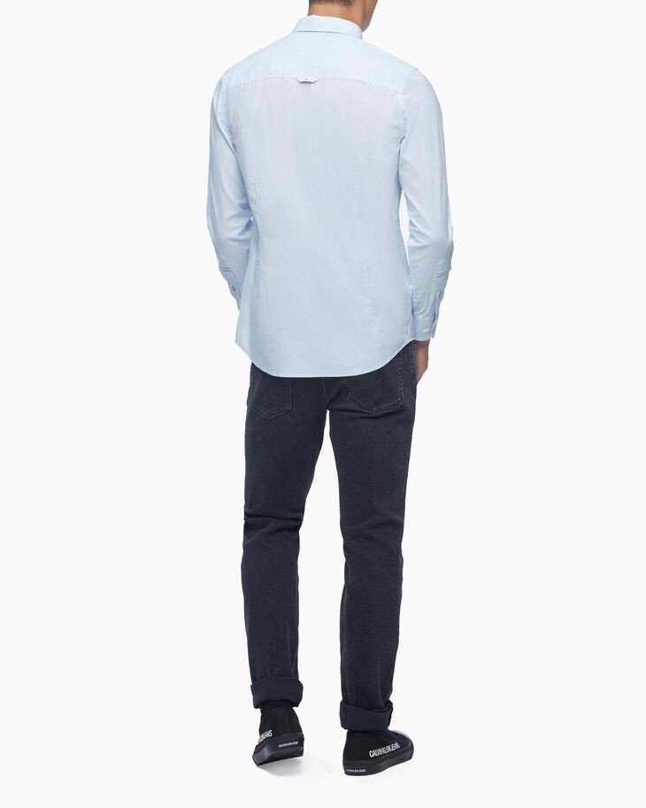 Calvin Klein - Áo sơmi nam Slim Stretch Washed Dobby J318-9P21