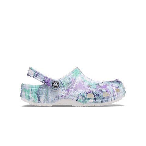Crocs - Giày sandal nam nữ Classic Clog Out Of This World Ii White Multi AP21-2068