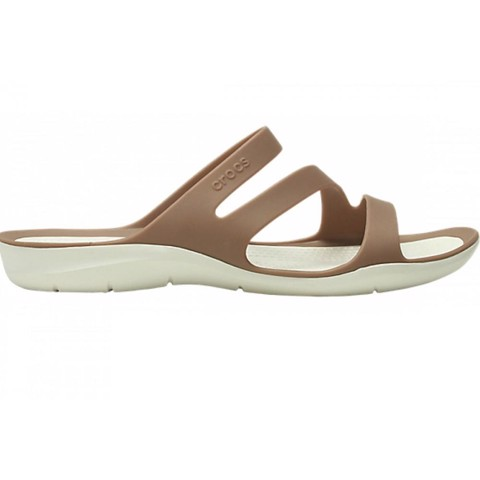 Crocs - Giày sandal nữ Swiftwater Sandal Wobronze/Oyster Casual SS19-2039