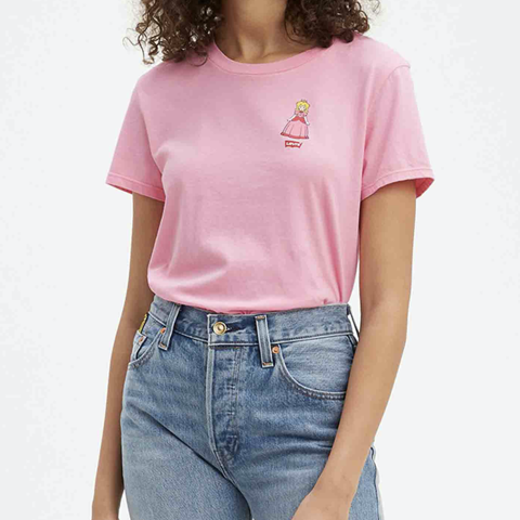Levi's - Áo thun nữ The Perfect Tee Wmn Princess Lc T3 Pink Women Levis TH-0902