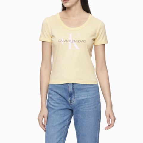 Calvin Klein - Áo thun Nữ Knits-Tee Straight Womens Sustainable Icons Kn4340 CK