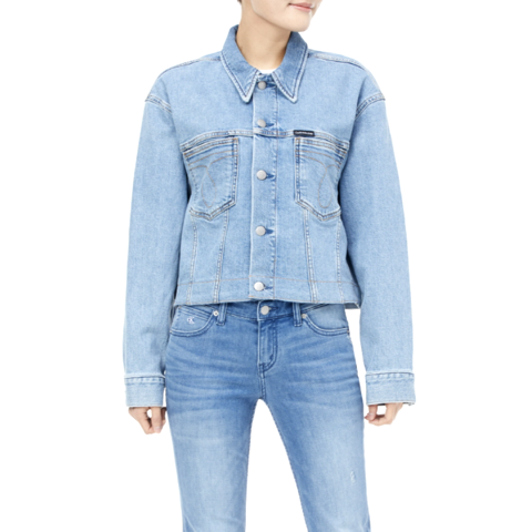 Calvin Klein - Áo Khoác Jeans Nữ No-leather Womens Sustainable Icons OU4346 CK