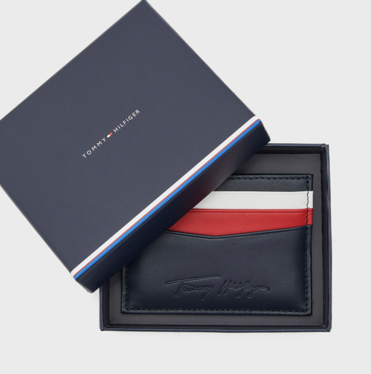 Tommy Hilfiger - Ví đựng thẻ nam Signature Holder AM21-5922