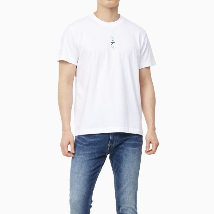 Calvin Klein - Áo thun nam Ck Repeat Text Graphic Tee J318-QP21
