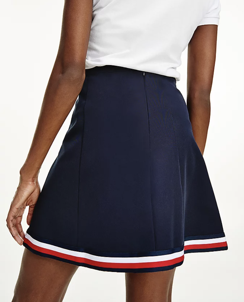 Tommy Hilfiger - Váy nữ Angela Global Stripe Short Skirt WQ21-2P21