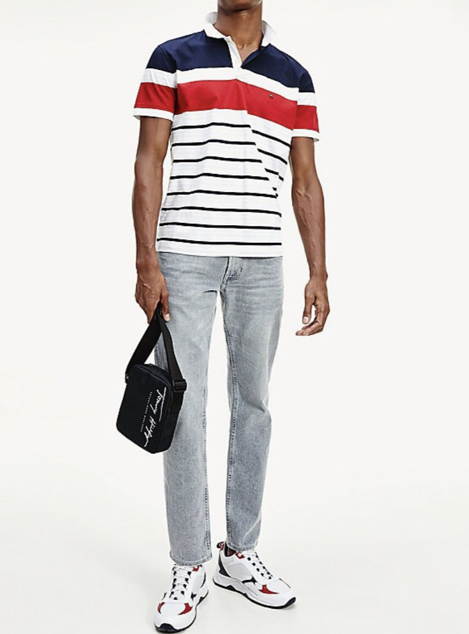 Tommy Hilfiger - Áo polo tay ngắn nam Irregular Stripe Regular MP21-AF20