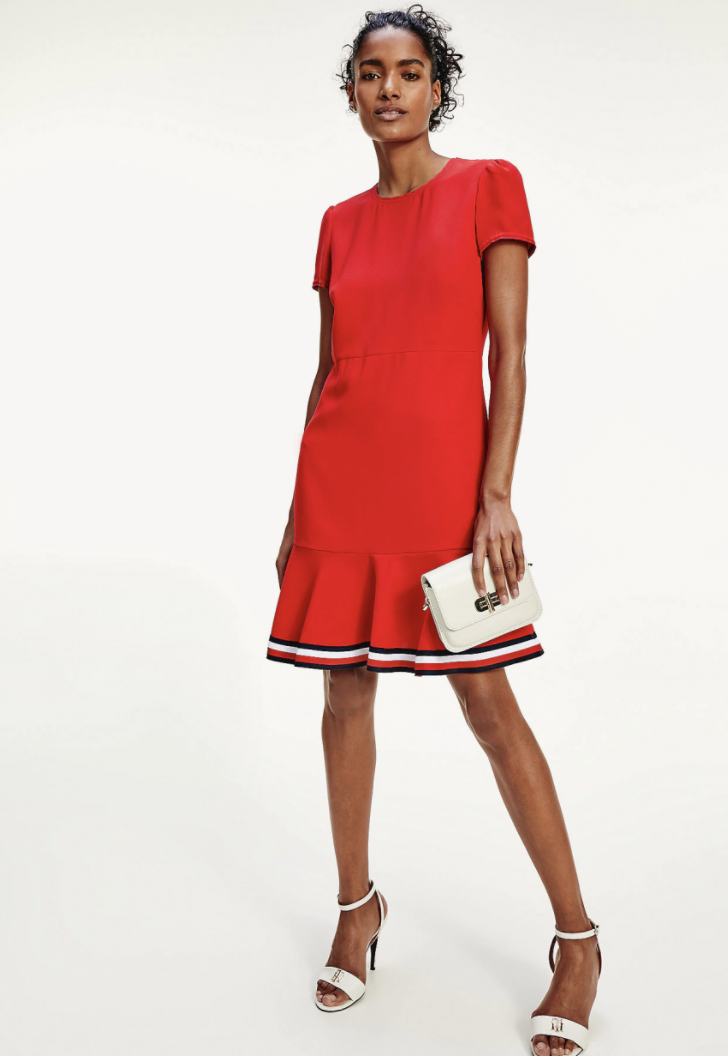 Tommy Hilfiger - Đầm nữ Skater Dress Red AW21-WF20