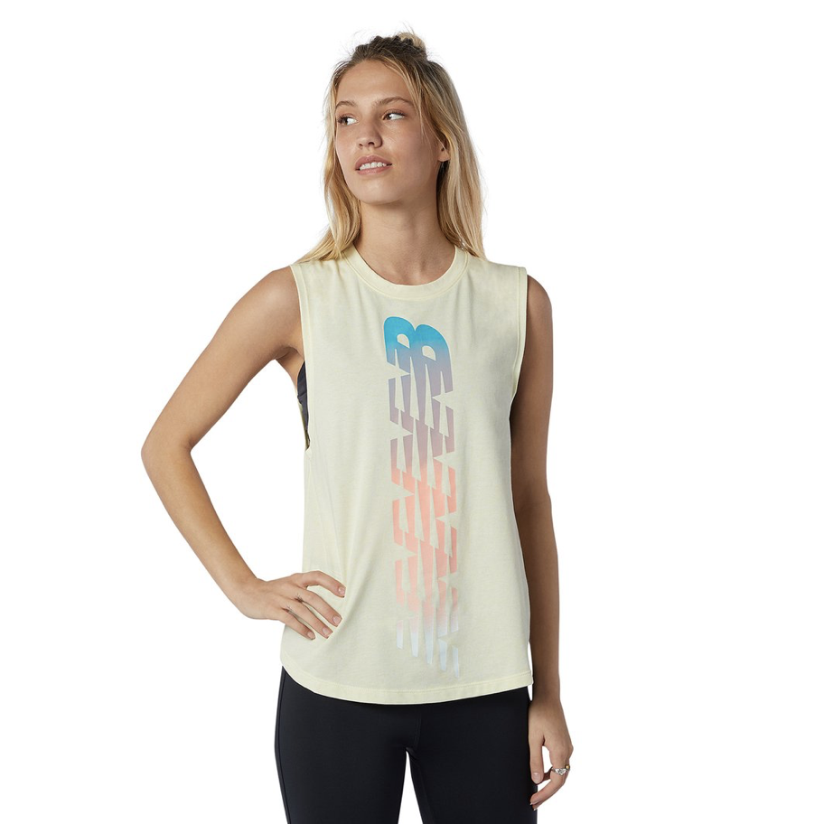 New Balance - Áo ba lỗ nữ Relentless Cinched Back Graphic Tank Training SS21-AWT1