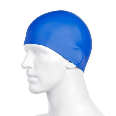 Speedo - Nón Thể Thao unisex Plain Moulded Silicone Cap Blue Unisex Accessories TR-2610