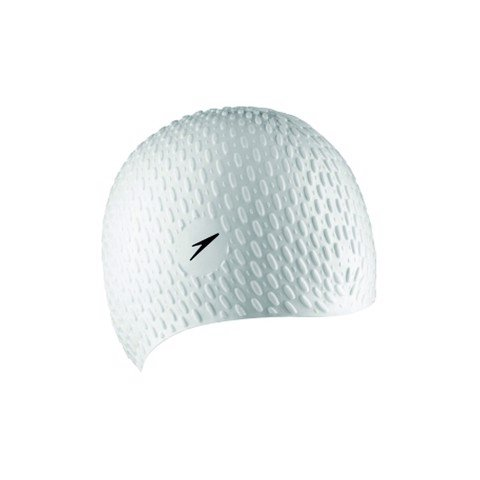 Speedo - Nón Bơi unisex Bubble Cap White Unisex Accessories TR-0003
