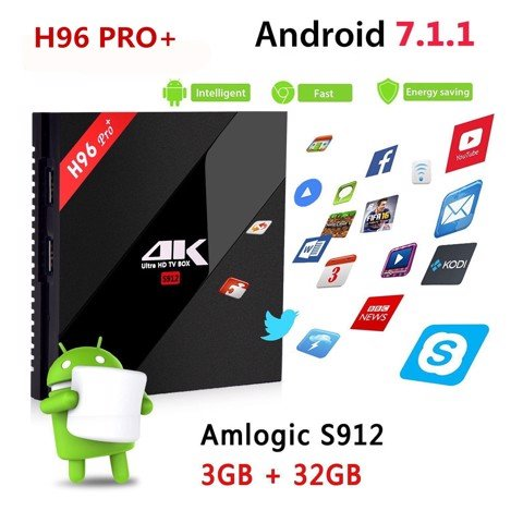 ANDROID TV BOX  H96 PRO+ 3GB RAM 32GB ROM CPU ALOGIC  S912