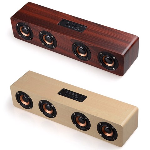 Loa bluetooth soundbar vỏ gỗ retro SADA W801