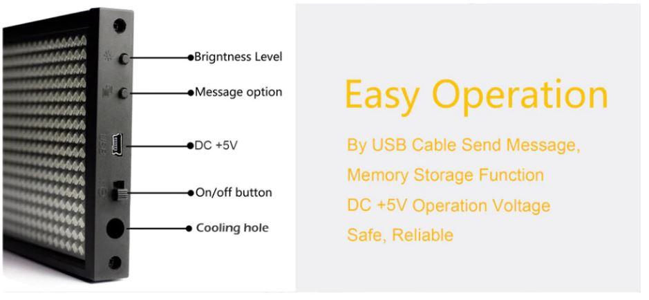Bảng LED tự lập trình chạy chữ quảng cáo 12V
