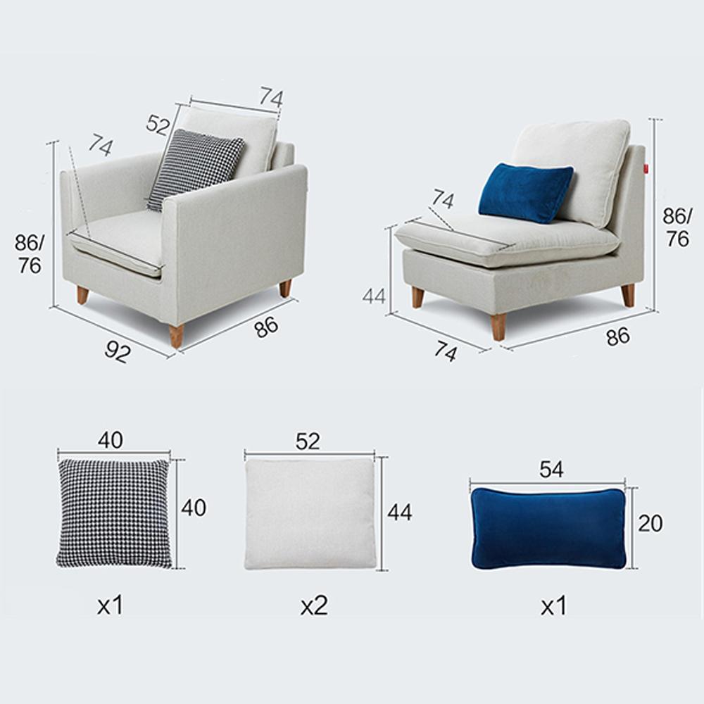 Sofa Phòng Khách TB028 – Nhiều màu trơn