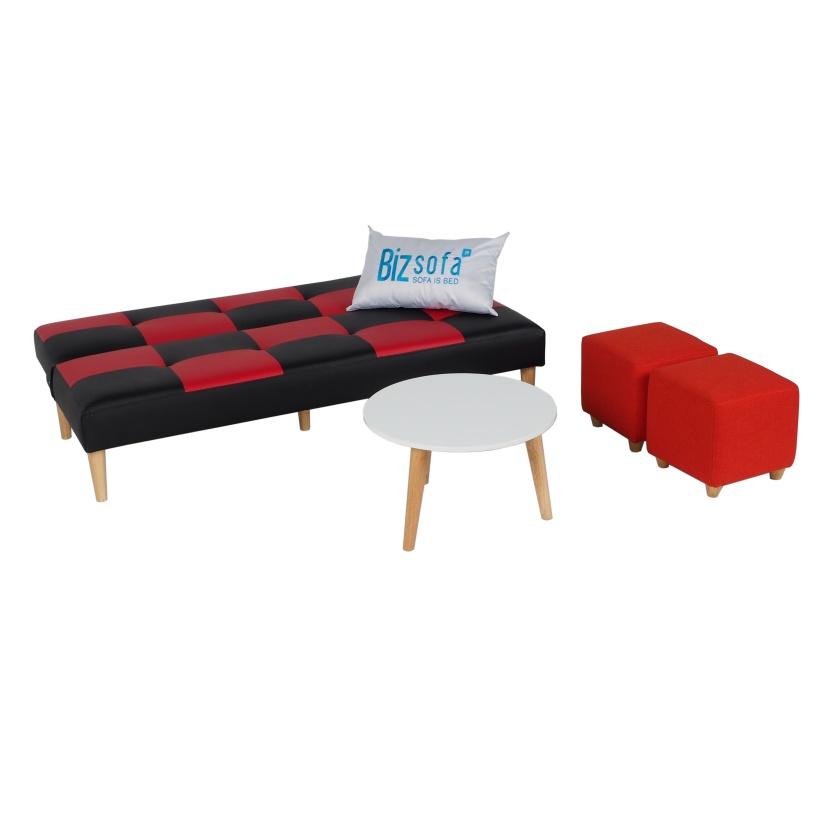 Combo Sofa Phòng Khách MLF-290 (Sofa giường + Bàn sofa + Ghế đôn)