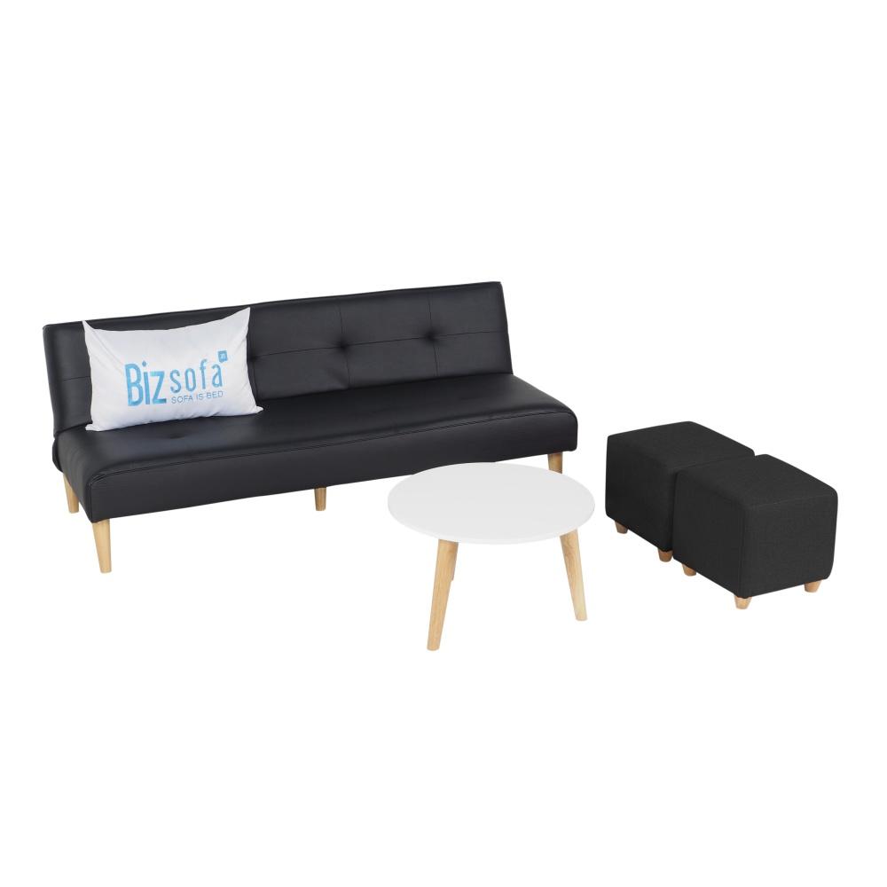 Combo Sofa Phòng khách MLF-619 (Sofa giường + Bàn sofa + Ghế đôn)