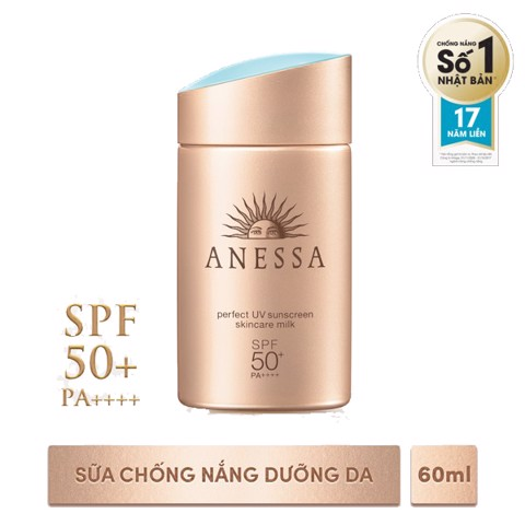 <p> - Sữa chống nắng Anessa Perfect UV Sunscreen Skincare Milk SPF 50+