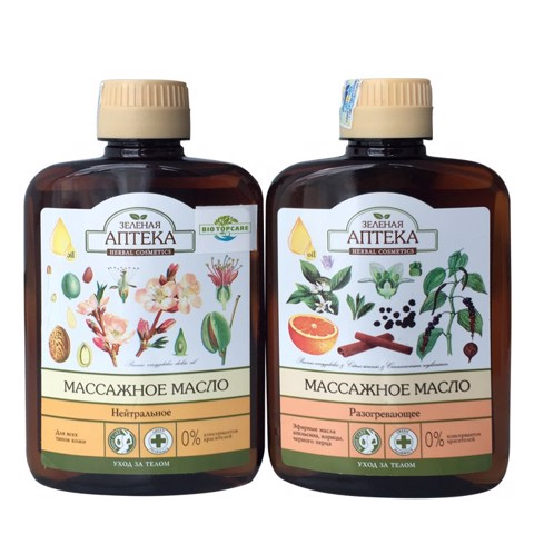 "<h4 class=""hidden-xs"">Green Pharmacy Warming Massage Oil & Green Pharmacy Anti-Cellulite Massage Oil  - Combo Dầu massage tạo nhiệt & tan mỡ Green Pharmacy"