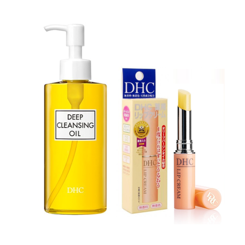 <p> - Combo DHC Deep Cleansing Oil 70ml và DHC Lip Cream