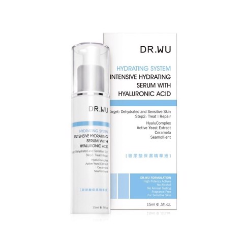 <p>INTENSIVE HYDRATING SERUM WITH HYALURONIC ACID 15ML - Serum cấp nước chuyên sâu Dr.Wu Hyaluronic Acid