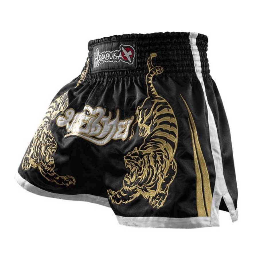 QUẦN HAYABUSA MUAY THAI SHORT - BLACK
