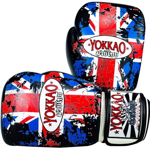 GĂNG TAY YOKKAO FYGL-12 UK FLAG MUAY THAI & BOXING GLOVES