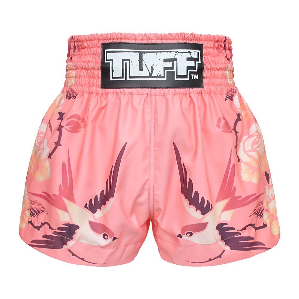 Quần Tuff Muay Thai Shorts Pink Birds And Roses