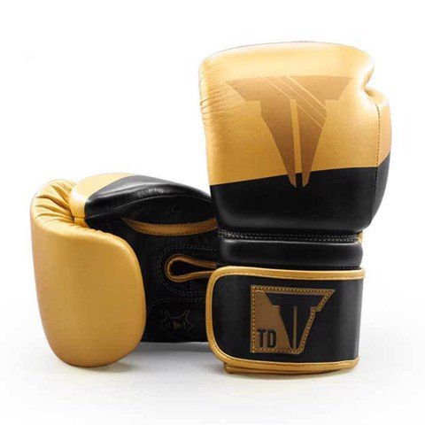 Găng Tay Throwdown Full-Grain Leather Boxing Gloves - Black/Gold
