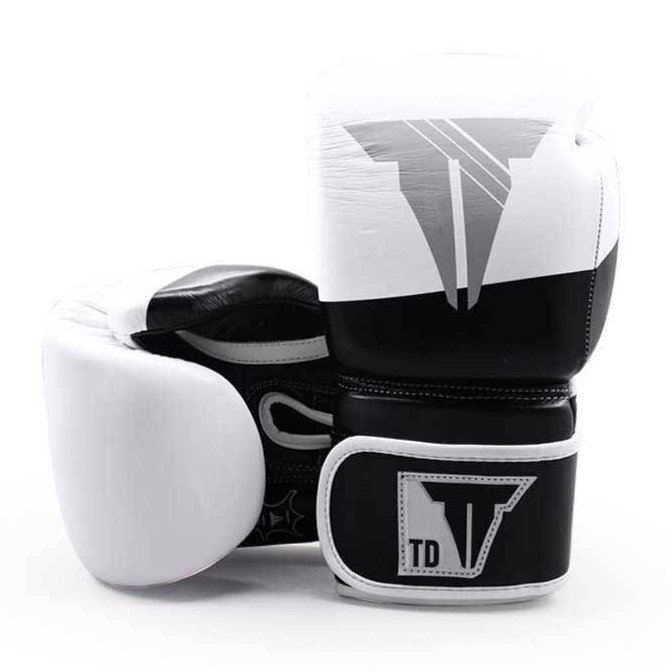 Găng Tay Throwdown Full-Grain Leather Boxing Gloves - White/Black